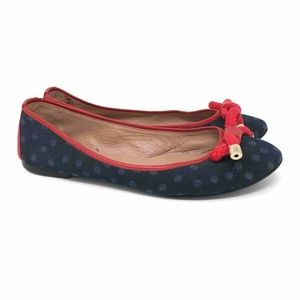 Red Valentino Womens Ballet Flats Blue Red 9
